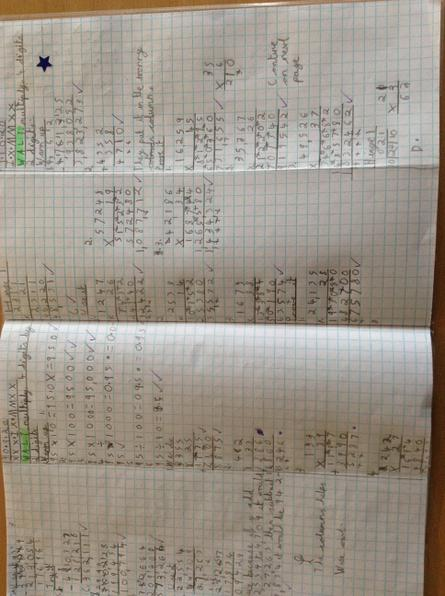 Class 14 - Great use of the long multiplication method Abbie!