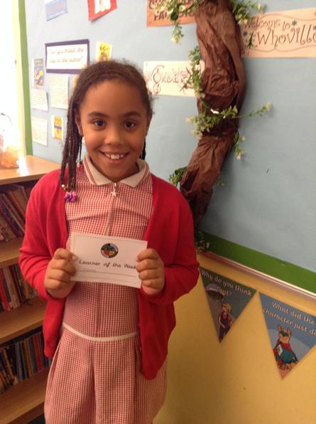 Our learner of the week on the 18th September