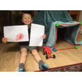 Superhero writing by Oliver