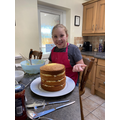 Birthday cake baking