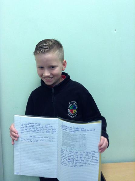 Kye created some great imagery with his descriptive writing this week!