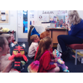 Olivia's Mum in Class 5 came to read to us all!