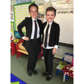 Mrs Morgan as Ant and Miss Pullin as Dec