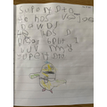 Supertato writing by Harrison
