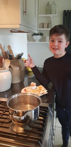 Zach cooks a mean breakfast!