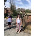 Amelia and Roman on a long walk