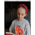 Mollie enjoying reading