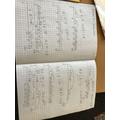 Charlie D-C brilliant maths work