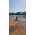 James on his bike