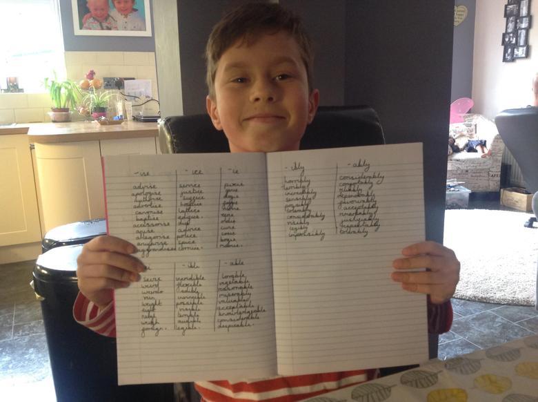 Super spellings Frankie!