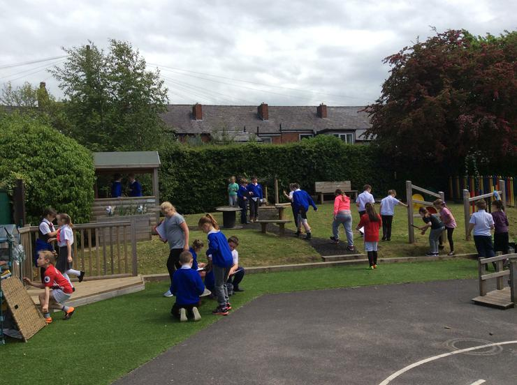 Afternoon activity in the Reception play area.