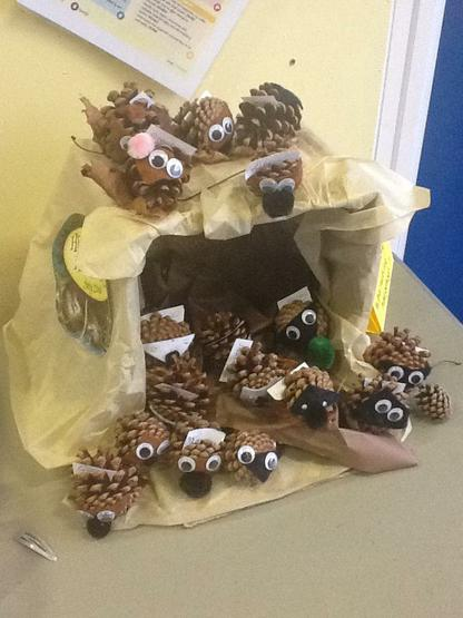 Look at these funny hedgehogs we have made!