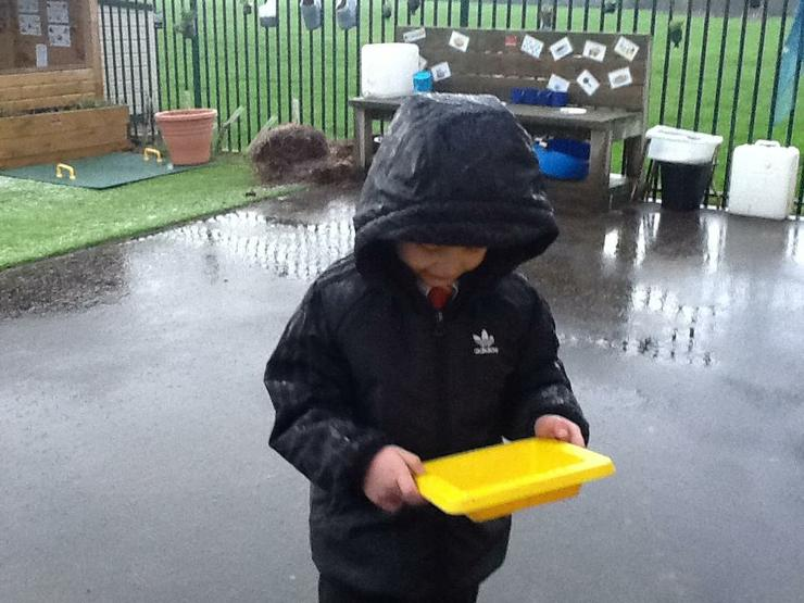Catching hailstones