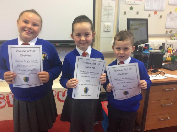 Kindness certificates.