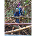 We had fun exploring the woodland area