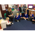 Mrs Darnell was invited to our tea ceremony.