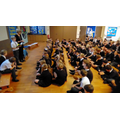 Children leading KS2 Rosary Collective Worship Oct