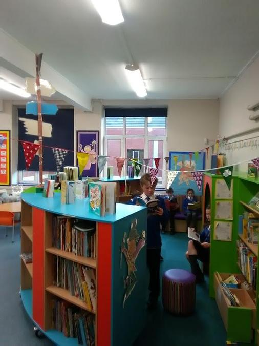 Children have free choice of the books