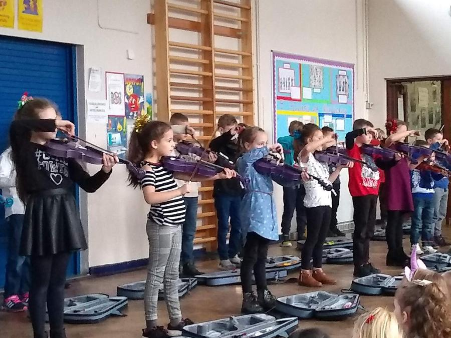Parent violin assembly