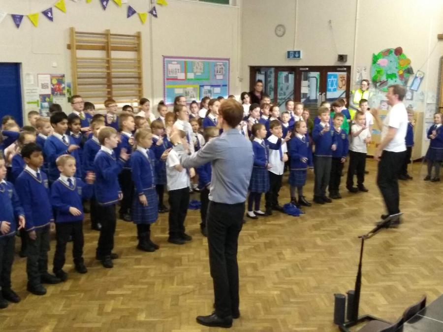 We had some singing lessons from Blackburn Music Service