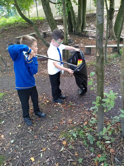 Looking after our school grounds