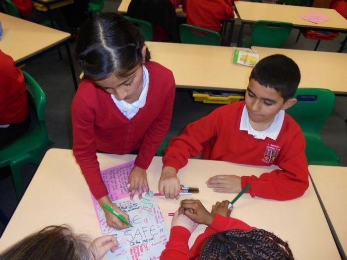 The children made their mind maps
