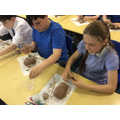 As part of our work on Rousseau we have been experimenting with clay.
