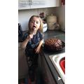 Lola has been baking.