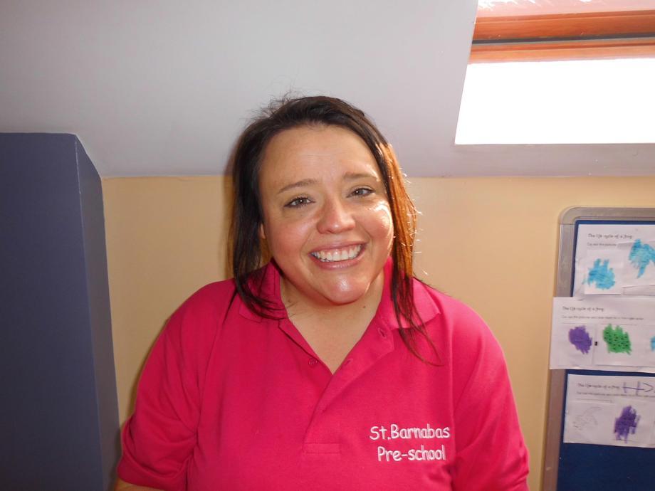 Laura works in the nursery room.