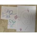 Harry's drawings.