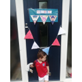 Charlie's VE Day bunting.