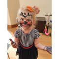 Megan had her face painted.
