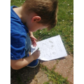 Charlie is doing his bug hunt.