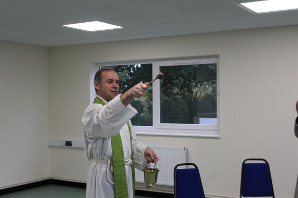 Father Paul Mason Blessing St David's Classroom