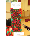 Poppies made by St Patrick's Class