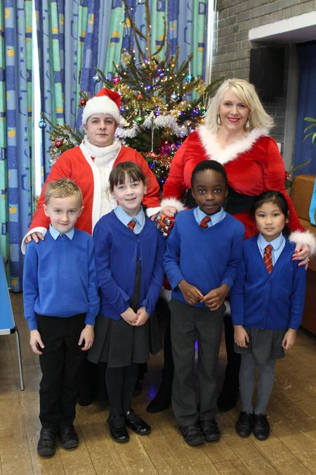 Father Christmas Helpers came to school today.
