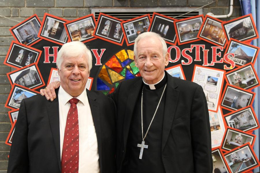The Archbishop and Headteacher Mr McPartland