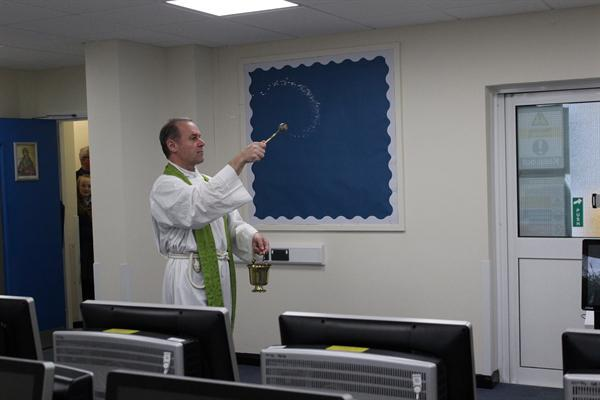Father Paul Mason Blessing our new rooms