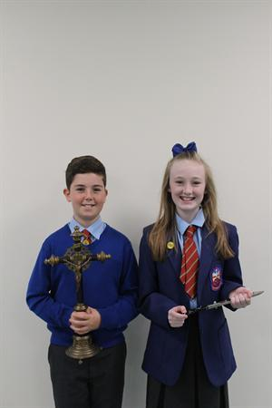 Head Boy and Head Girl who cut the ribbons