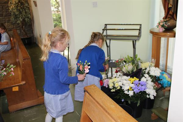 May Flowers in Church