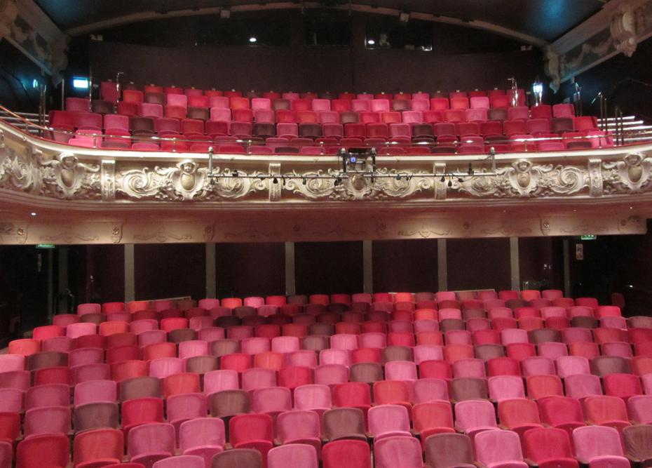 The empty theatre from the stage