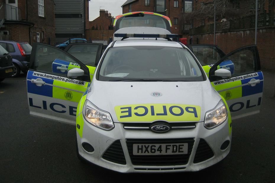We loved sitting in this patrol car!