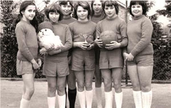 The Netball Team in 1974-75