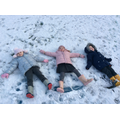 Making snow angels...