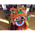 The Chinese lion dance.
