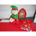 Our Elf 'Eddie' has arrived in Reception.