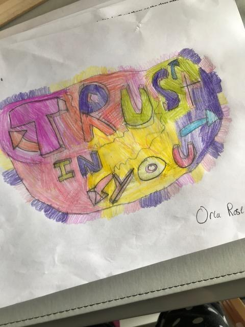 'Trust in you' by Orla Graffiti art work- amazing