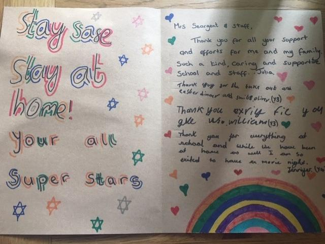 Message to St Ben's from Oliver, William & Family