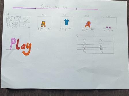 Ewa created her own math game.
