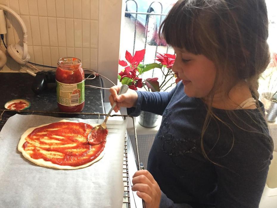 Pizza baking by Aleksandra